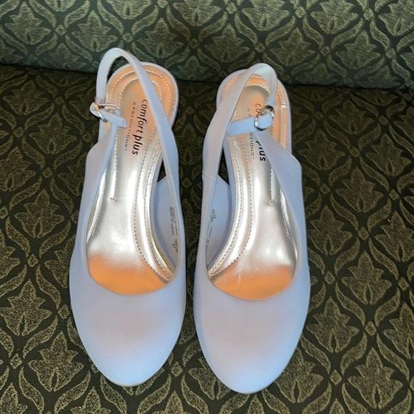 Comfort Plus Light Blue Slingback Heels